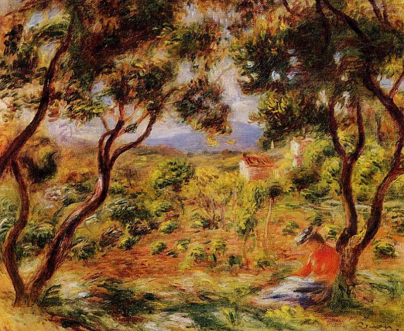 The Vineyards of Cagnes - 1908. Pierre-Auguste Renoir