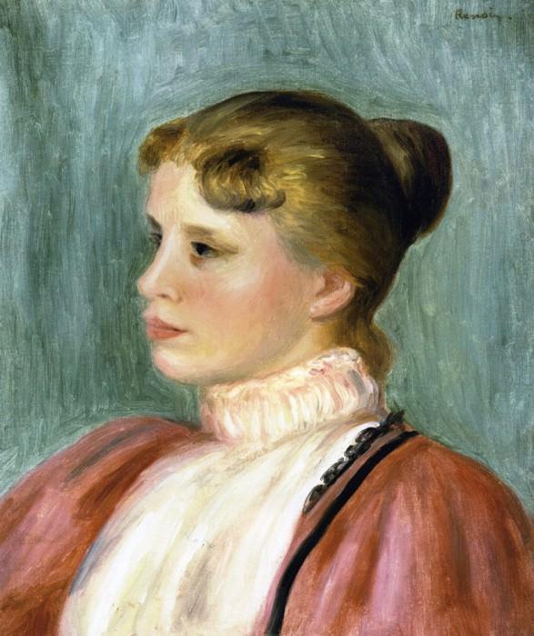 Portrait of a Woman - 1897. Pierre-Auguste Renoir