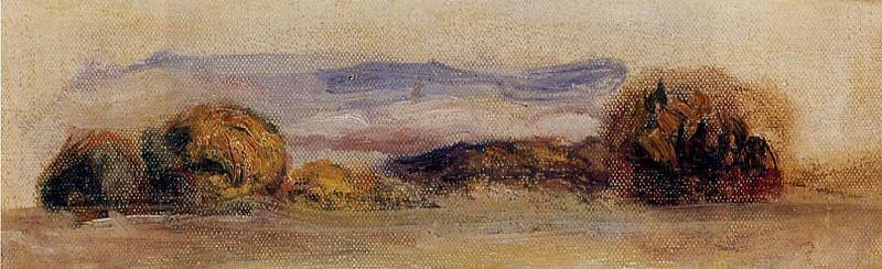 Landscape - 1881. Пьер Огюст Ренуар
