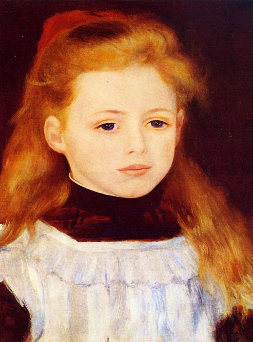 Little Girl in a White Apron (also known as Portrait of Lucie Berard) - 1884. Pierre-Auguste Renoir