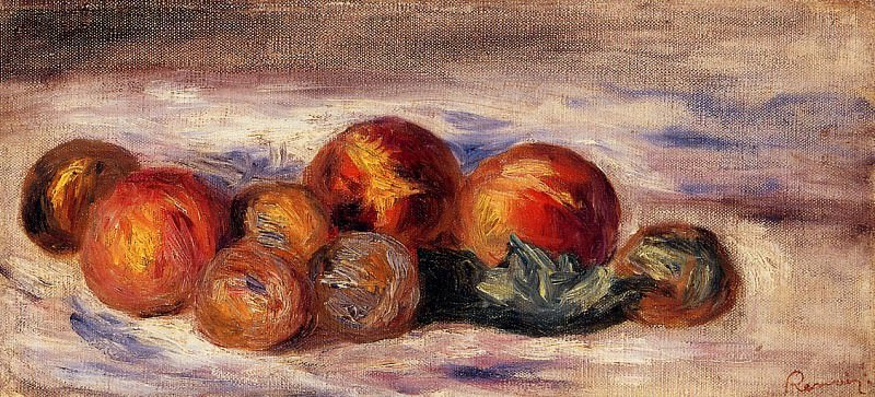 Still Life with Peaches - 1916. Pierre-Auguste Renoir