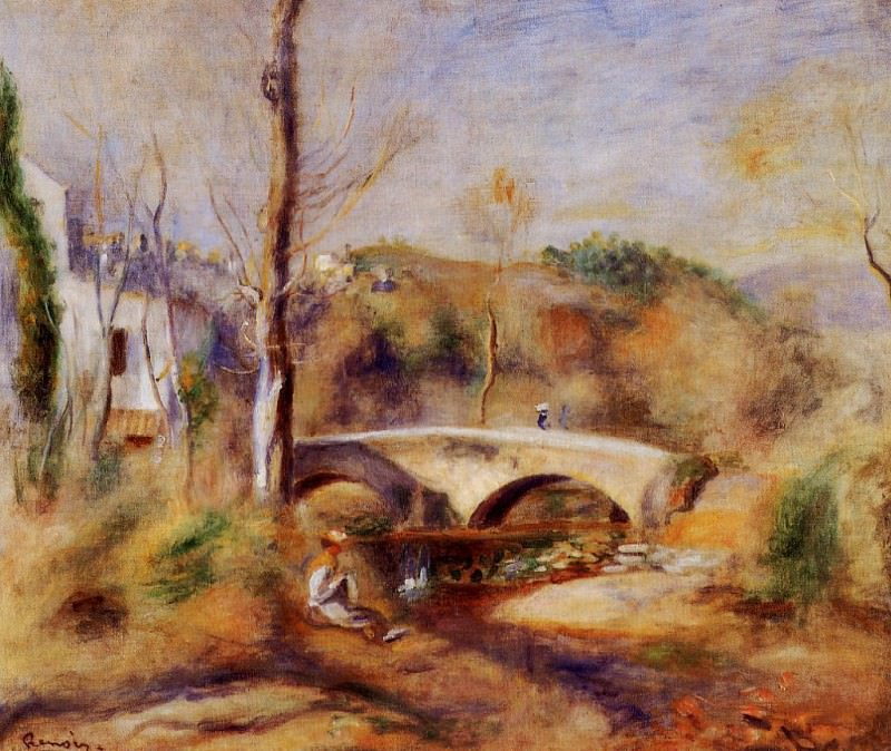 Landscape with Bridge - 1900. Пьер Огюст Ренуар