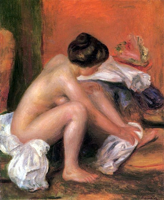 Bather Drying Her Feet - 1907. Pierre-Auguste Renoir