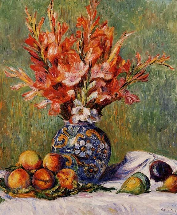 Flowers and Fruit - 1889. Pierre-Auguste Renoir