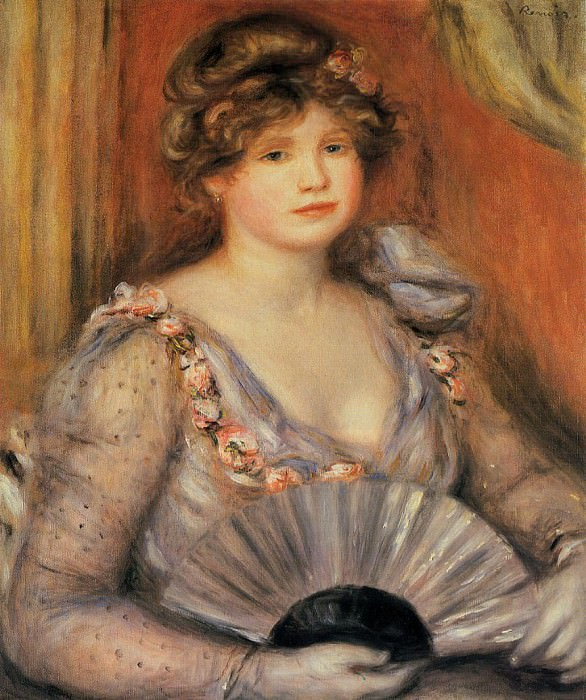 Woman with a Fan - 1906. Pierre-Auguste Renoir