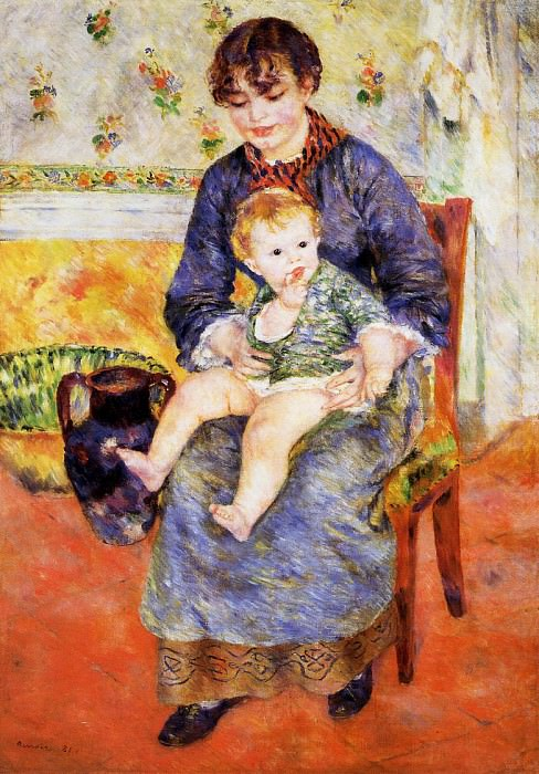 Mother and Child - 1881. Pierre-Auguste Renoir