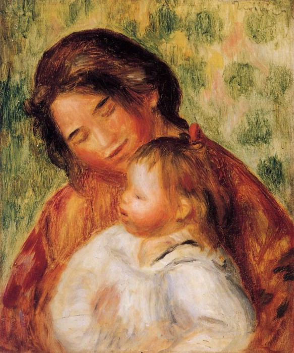 Woman and Child. Пьер Огюст Ренуар