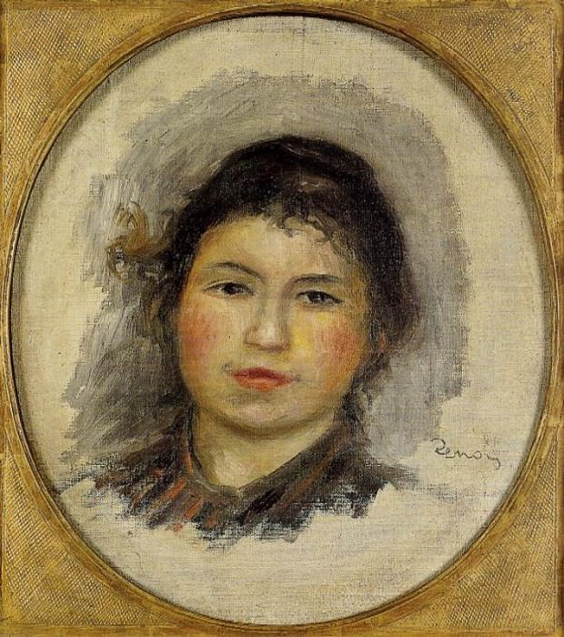 Head of a Young Woman - ок 1901 -1902. Pierre-Auguste Renoir