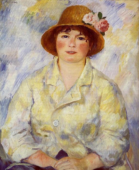 Aline Charigot (future Madame Renoir) - 1885. Пьер Огюст Ренуар