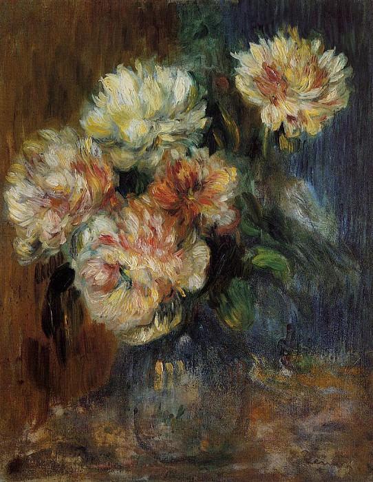 Vase of Peonies - 1890. Пьер Огюст Ренуар