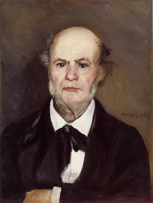 Leonard Renoir, the Artists Father - 1869. Пьер Огюст Ренуар