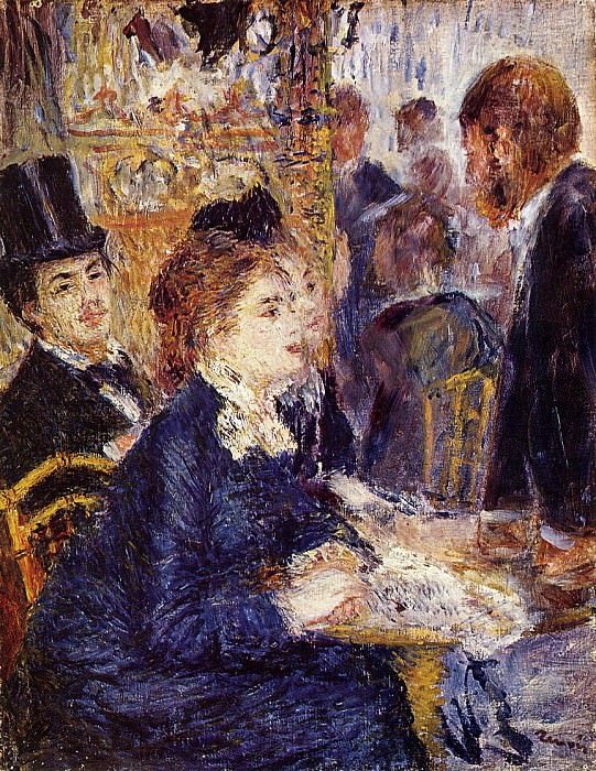 The Cafe - 1874 - 1875. Pierre-Auguste Renoir
