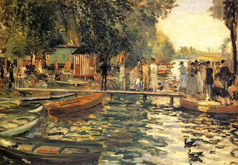 La Grenouillere - 1869. Пьер Огюст Ренуар