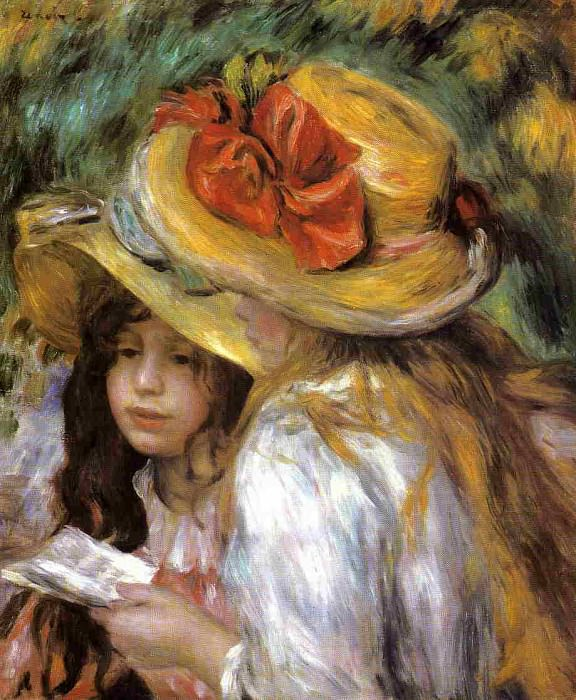Two Young Girls Reading - 1890 - 1891. Pierre-Auguste Renoir