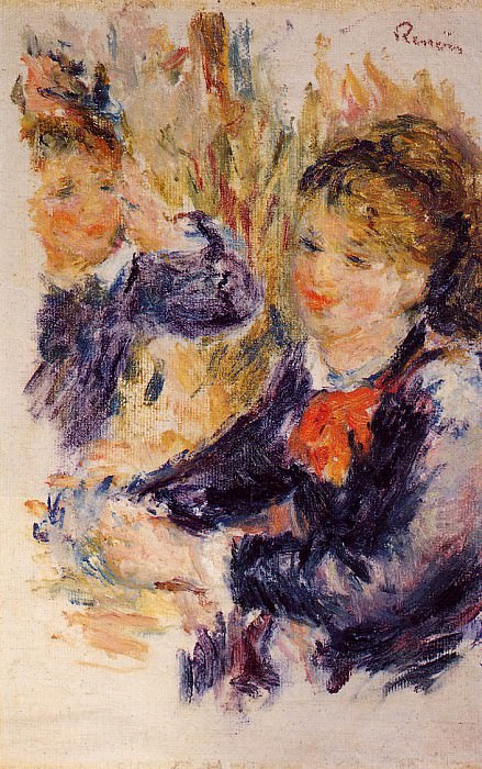At the Milliners (study) - 1878. Pierre-Auguste Renoir