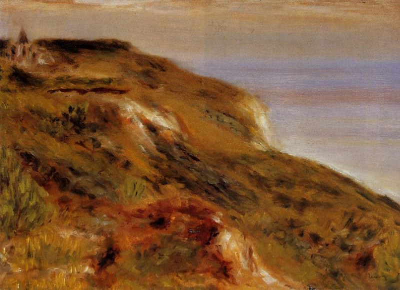 The Varangeville Church and the Cliffs - 1880. Pierre-Auguste Renoir