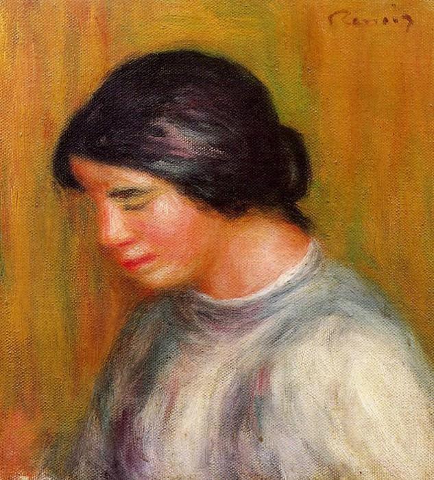 Портрет юной девушки - неизвестная дата. Пьер Огюст Ренуар