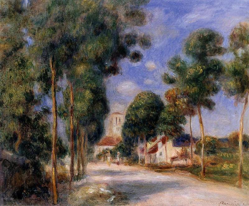 Entering the Village of Essoyes - 1901. Pierre-Auguste Renoir