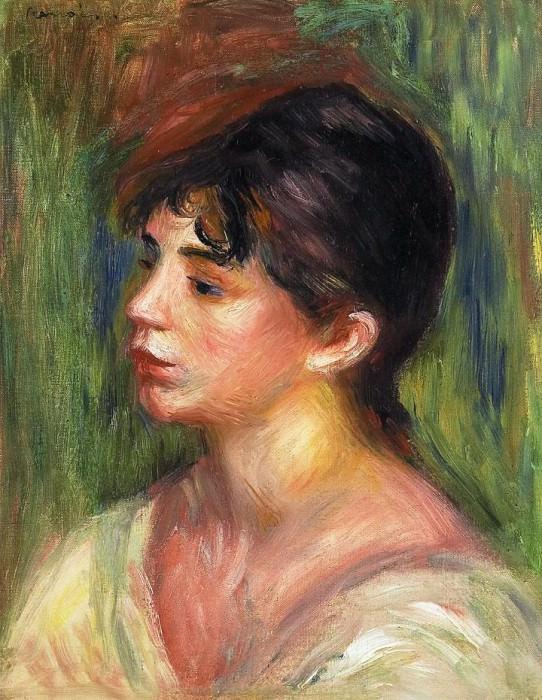 Portrait of a Young Woman. Pierre-Auguste Renoir