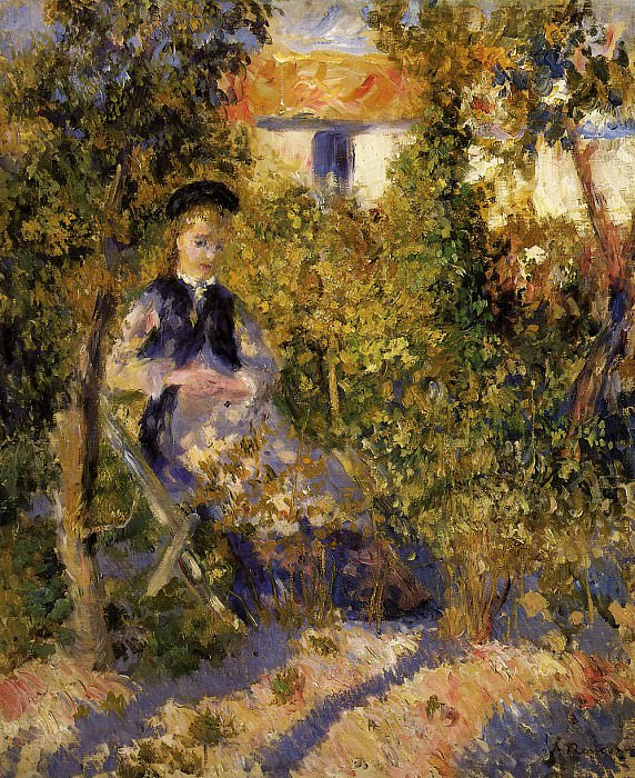 Nini in the Garden - 1876. Пьер Огюст Ренуар