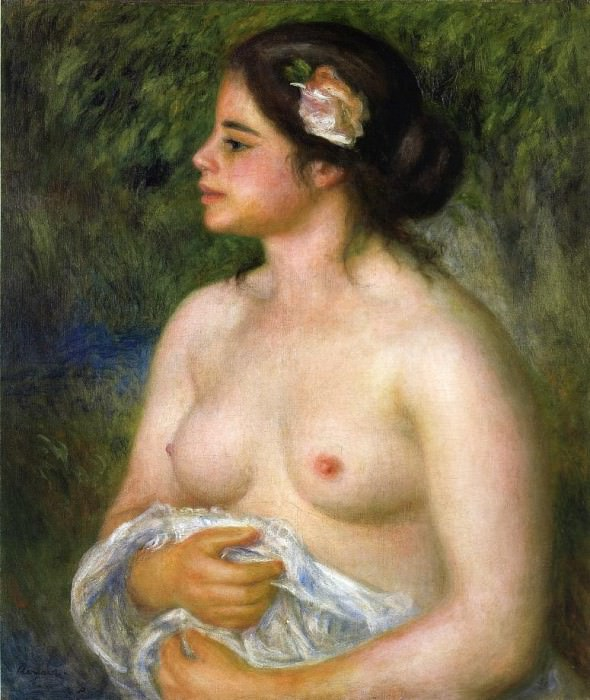 Gabrielle with a Rose (also known as The Sicilian Woman) - 1899. Pierre-Auguste Renoir