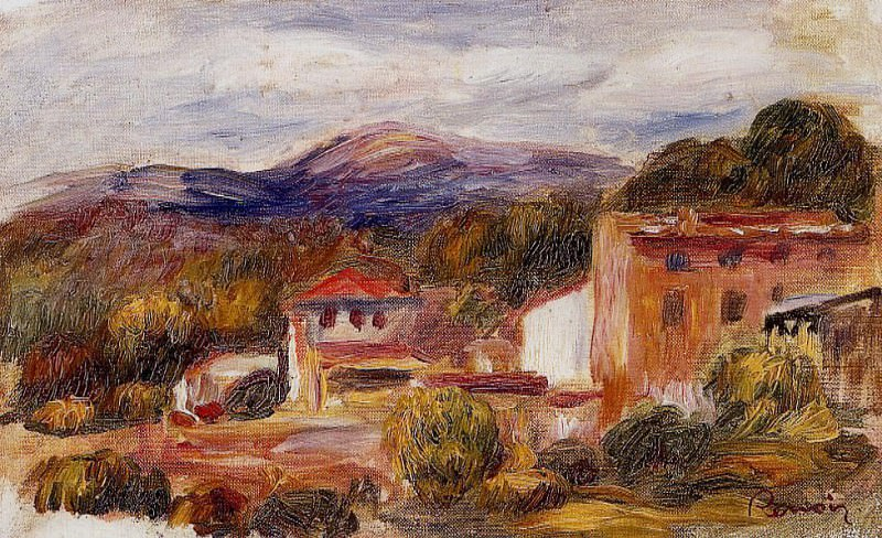 House and Trees with Foothills - 1904. Pierre-Auguste Renoir