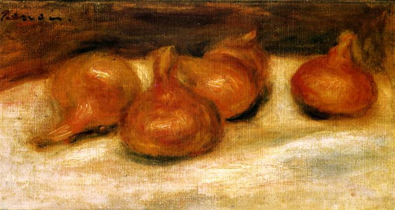 Still Life with Onions - 1917. Pierre-Auguste Renoir