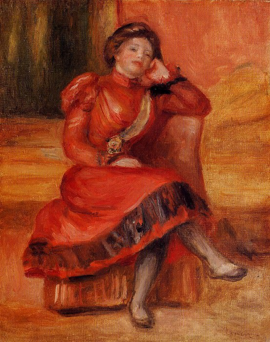 Spanish Dancer in a Red Dress - 1896. Пьер Огюст Ренуар