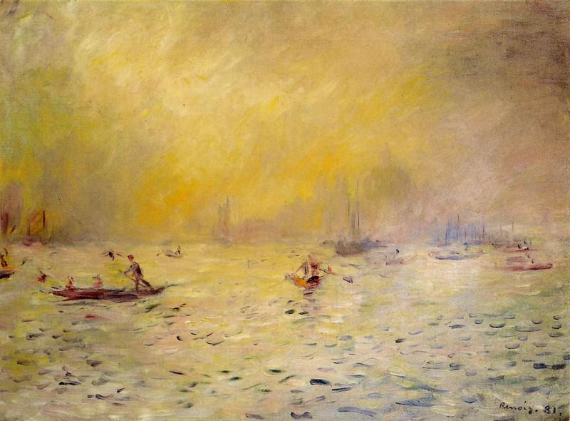 View of Venice, Fog - 1881. Пьер Огюст Ренуар