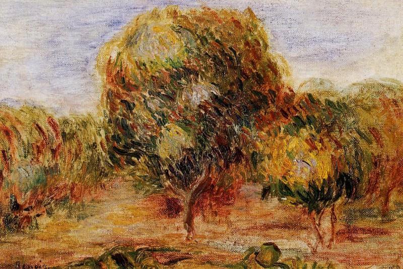 Cagnes Landscape - около 1907-1908. Pierre-Auguste Renoir