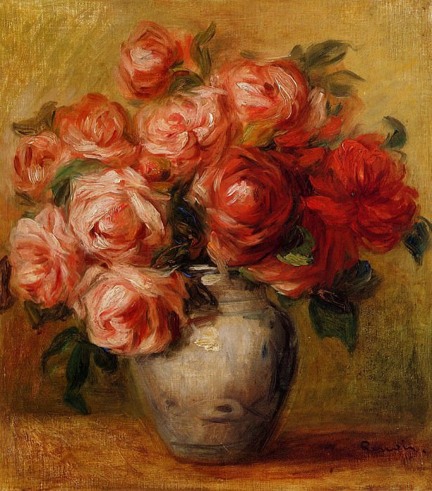 Still Life with Roses. Pierre-Auguste Renoir
