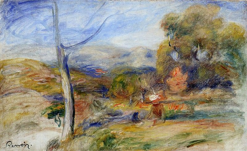 Landscape near Cagnes - ок 1910. Пьер Огюст Ренуар