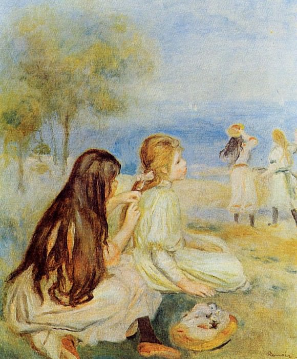 Young Girls by the Sea - 1894. Пьер Огюст Ренуар