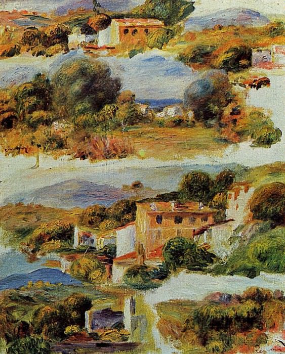 Houses at Cagnes - 1905. Pierre-Auguste Renoir
