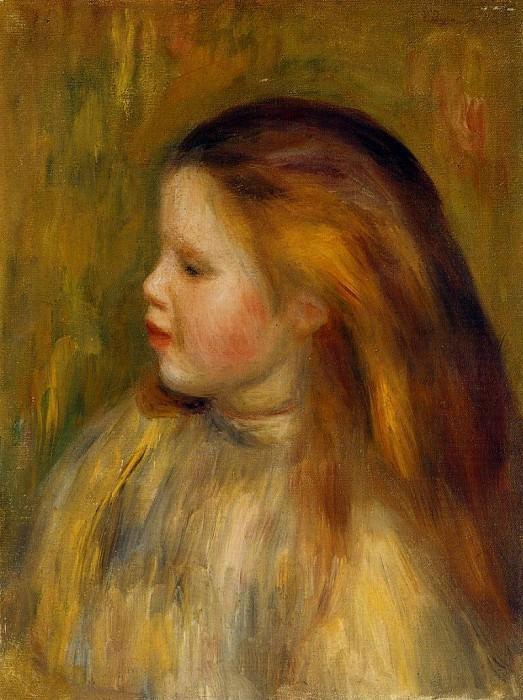 Head of a Little Girl in Profile - 1901. Pierre-Auguste Renoir