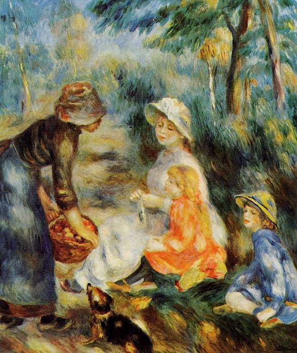 The Apple Seller - 1890. Pierre-Auguste Renoir