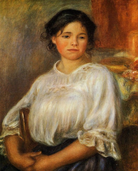Young Woman Seated - 1909. Pierre-Auguste Renoir