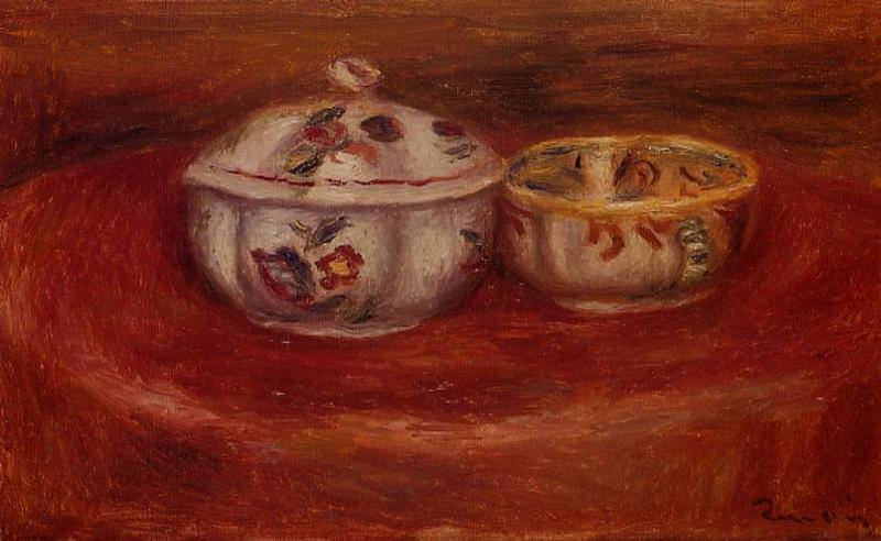 Sugar Bowl and Earthenware Bowl. Пьер Огюст Ренуар