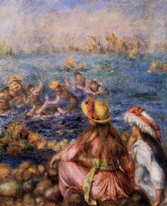 Bathers - 1892. Пьер Огюст Ренуар
