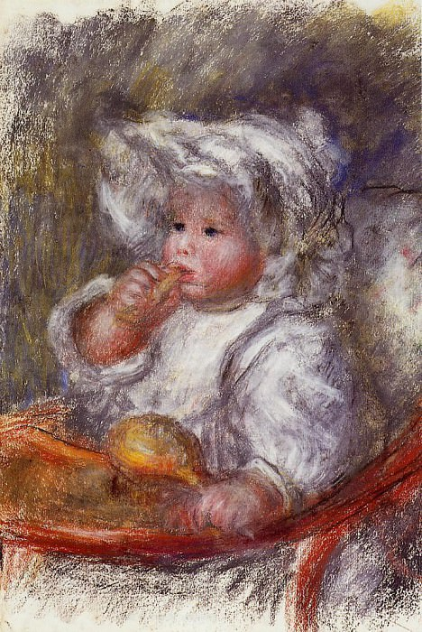 Jean Renoir in a Chair (also known as Child with a Biscuit) - 1895. Пьер Огюст Ренуар
