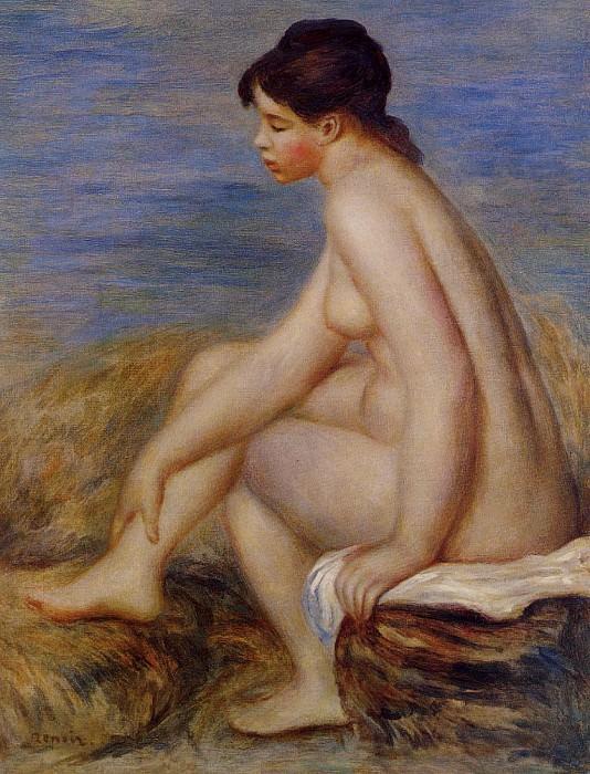 Seated Bather - 1882. Pierre-Auguste Renoir