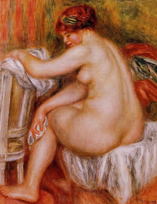Seated Nude - 1913. Пьер Огюст Ренуар