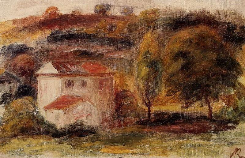 Landscape - ок 1916. Пьер Огюст Ренуар