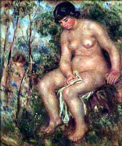 Bather - ок 1913-1914. Pierre-Auguste Renoir
