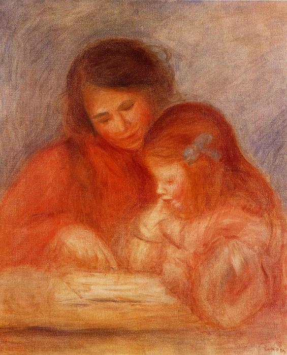 The Lesson - 1900. Pierre-Auguste Renoir