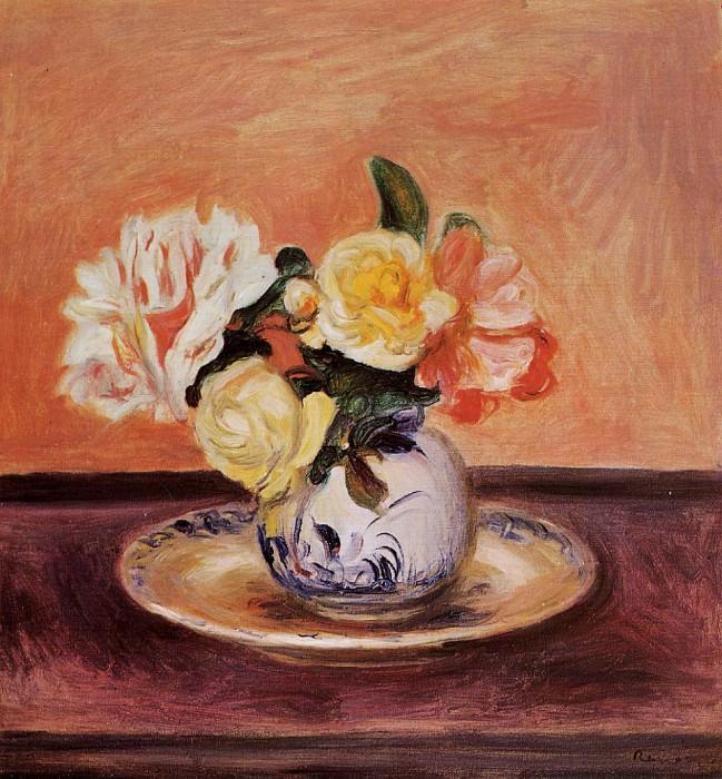 Vase of Flowers. Пьер Огюст Ренуар