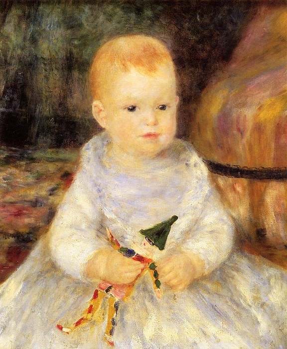 Child with Punch Doll (also known as Pierre de la Pommeraye) - 1874 - 1875. Pierre-Auguste Renoir