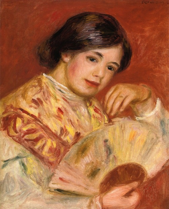 Woman with a Fan - 1906. Пьер Огюст Ренуар