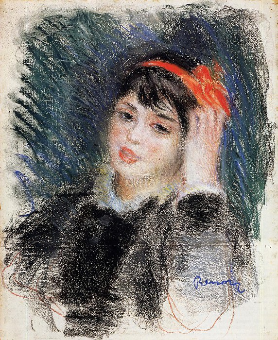 Head of a Young Woman - 1878 -1880. Pierre-Auguste Renoir
