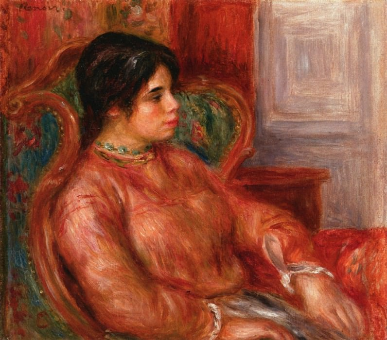 Woman with Green Chair - 1900. Pierre-Auguste Renoir